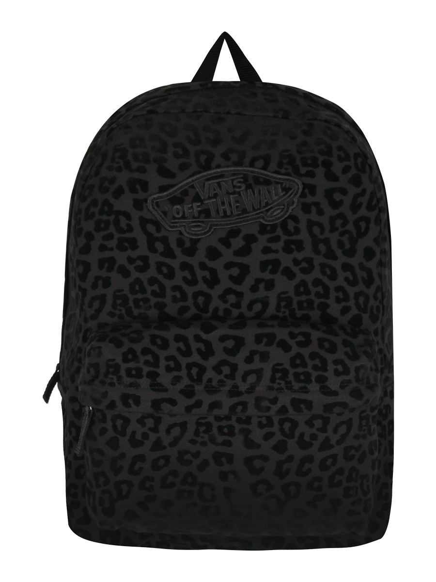 93a11502051f Vans Black Leopard Realm Backpack - Buy Online at Grindstore.com