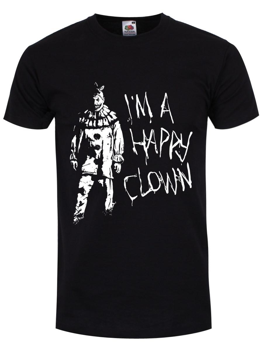 f4fd730b51f7 I'm A Happy Clown Men's Black T-Shirt, Inspired By American Horror ...