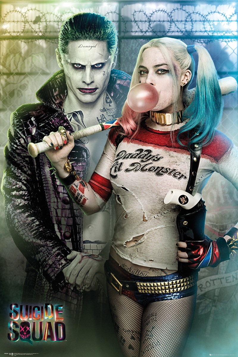 timeless design 262e5 a00a1 Suicide Squad Joker and Harley Quinn Maxi Poster - Buy Online at  Grindstore.com