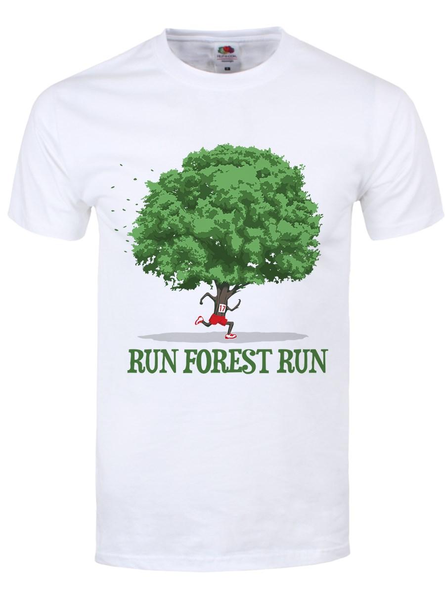 Run Forest Run Men 39 S White T Shirt Inspired By Forrest