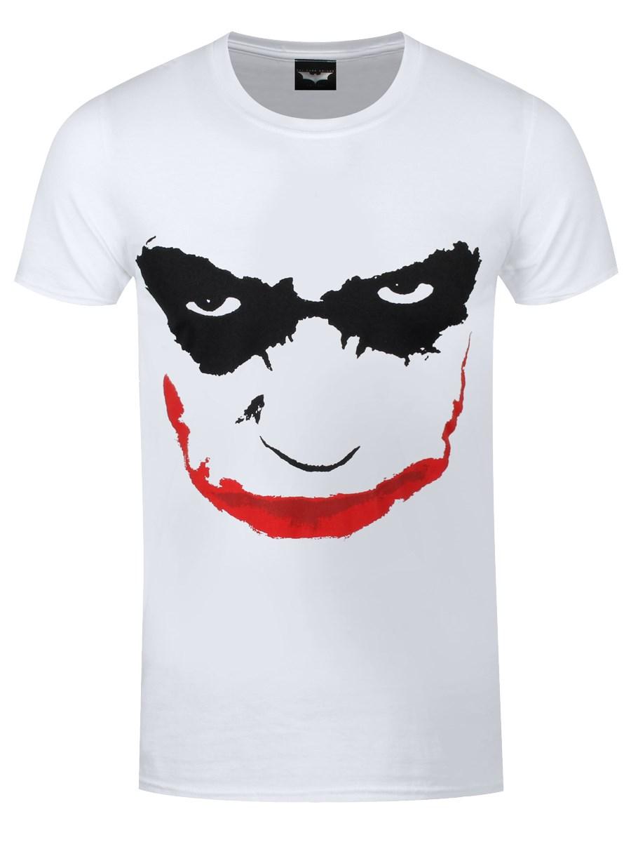 6e34877d0 Batman The Dark Knight Joker Smile Men's White T-Shirt - Buy Online ...