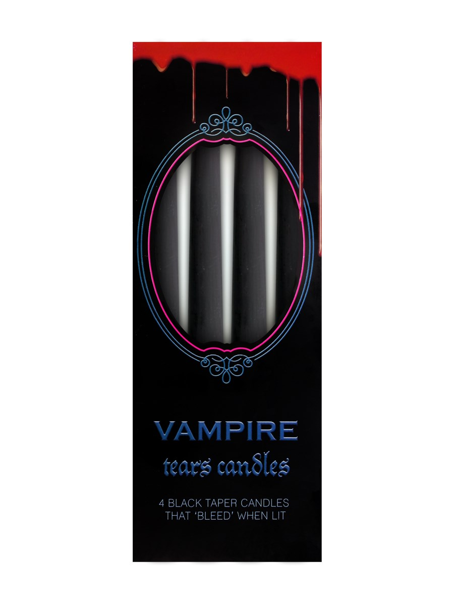 VAMPIRE TEARS CANDLE PACK OF 4 BLEED RED WHEN LIT CANDLES GOTHIC GIFT