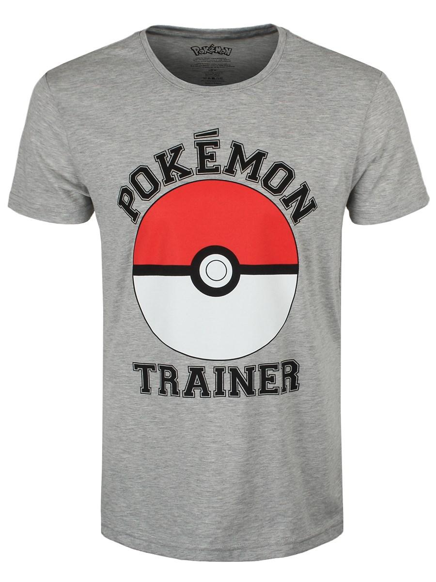 84bc1328 Pokemon Trainer Men's Grey T-Shirt - Buy Online at Grindstore.com