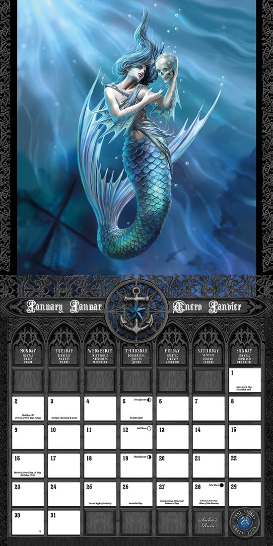 Anne Stokes 2017 Square Calendar - Buy Online at