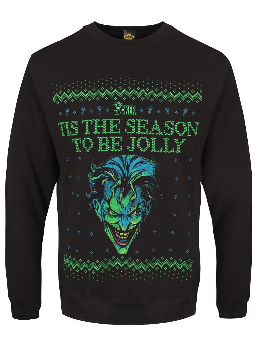 7a9c47e9f24 The Joker  Tis The Season To Be Jolly Men s Black Christmas ...