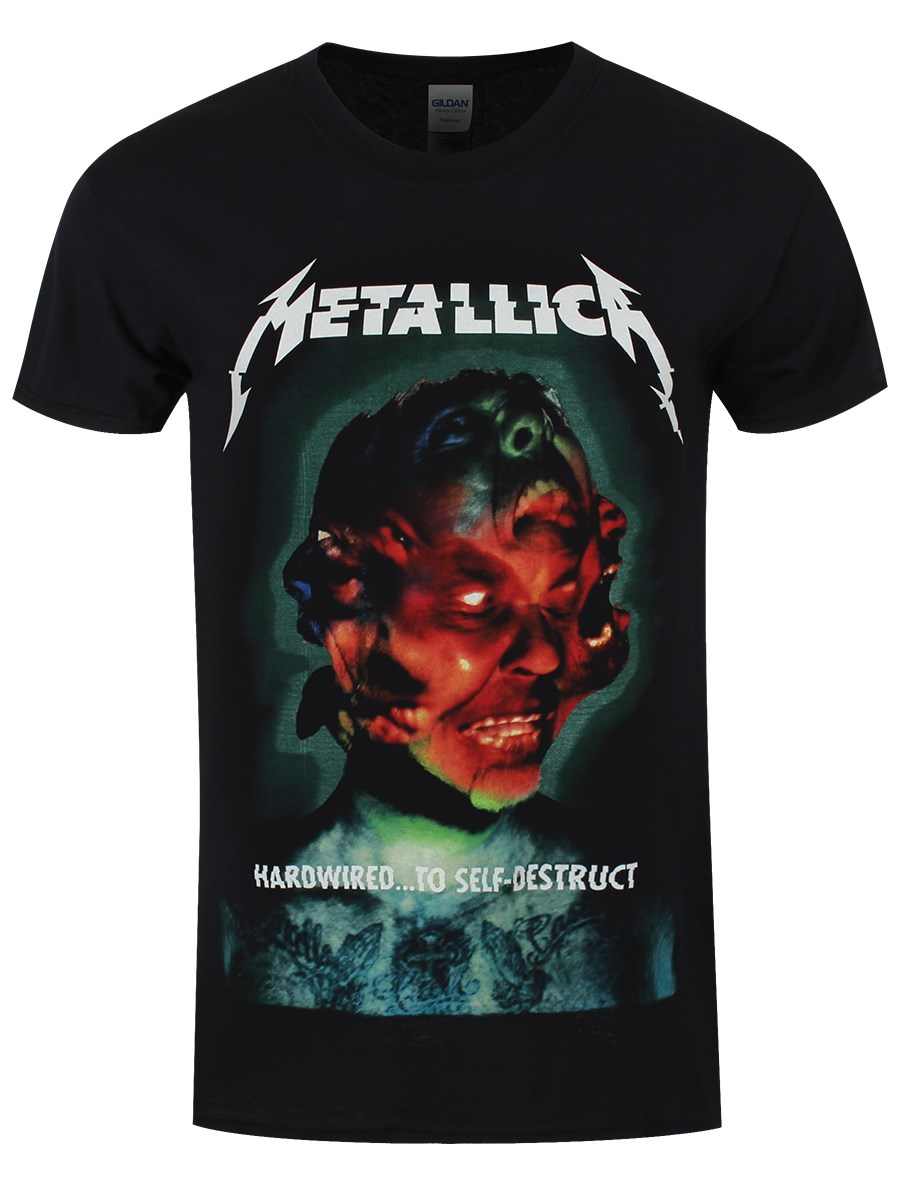 Metallica Hardwired Album Men S Black T Shirt Buy Online
