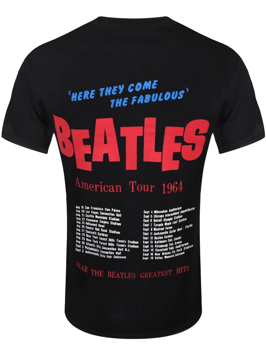a2ca36c46 The Beatles American Tour 1964 Men's Black T-Shirt - Buy Online at ...