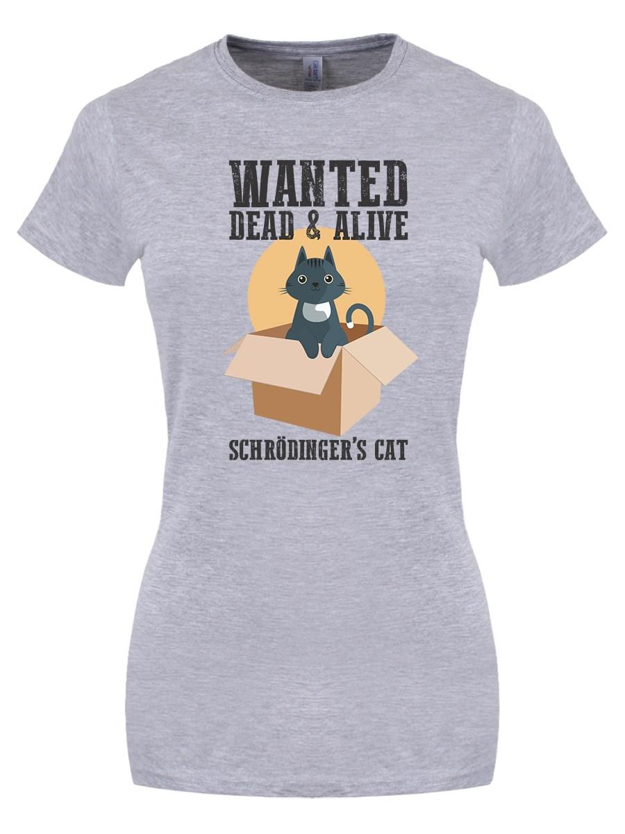b4a6798c5 Schrodinger's Cat Ladies Grey T-Shirt - Buy Online at Grindstore.com