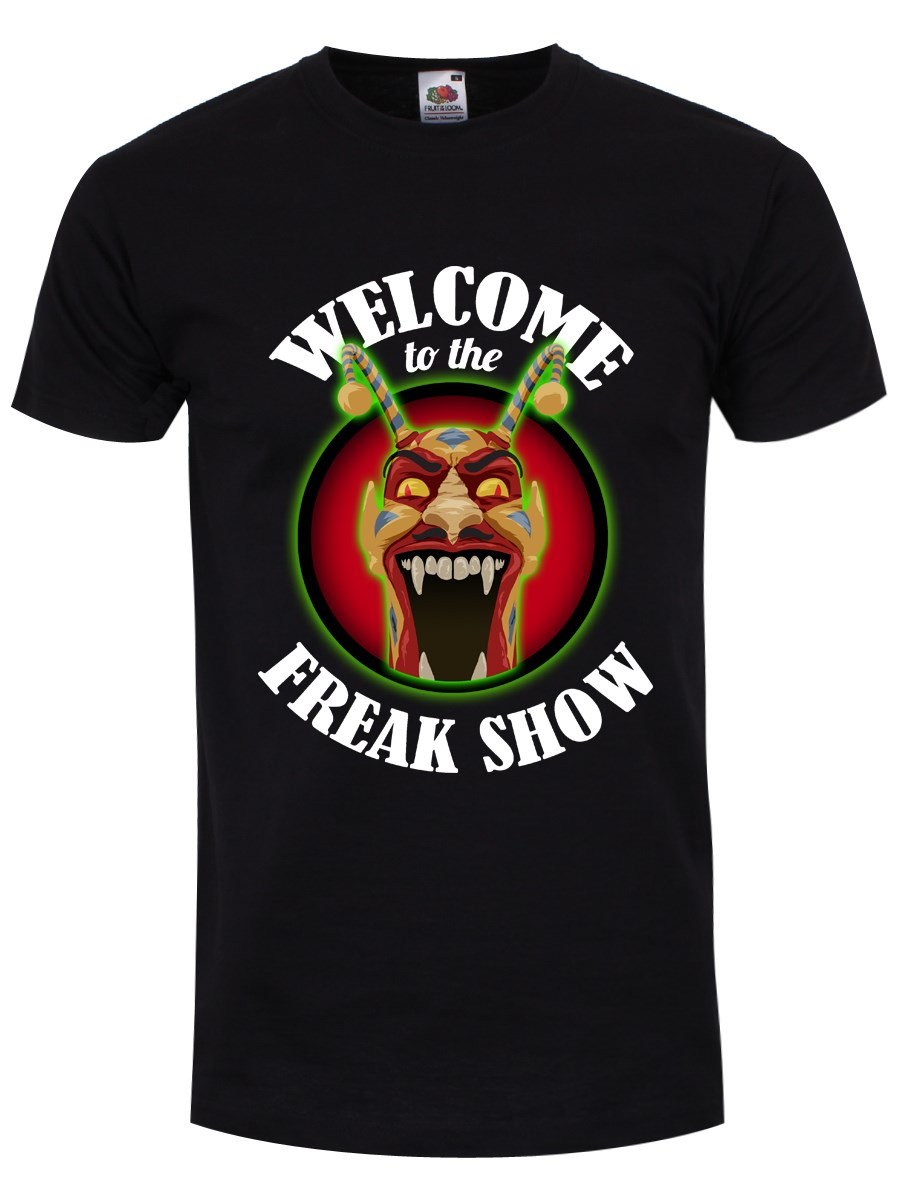 17f3af6af8ee Welcome To The Freak Show Men's Black T-Shirt, Inspired By American ...