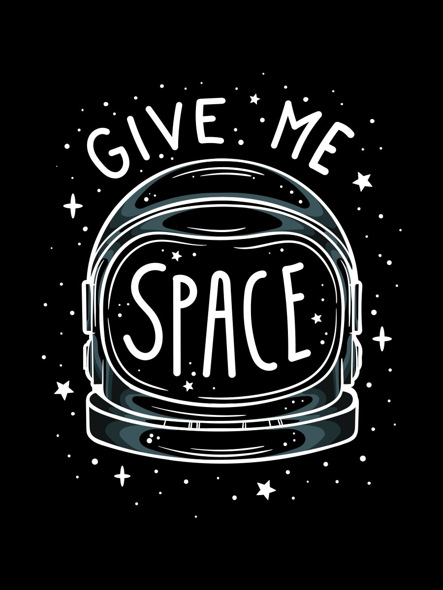 Give Me Space Men S Black T Shirt Buy Online At