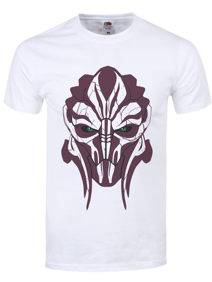 Turian Profile Mens White T Shirt Inspired By Mass Effect