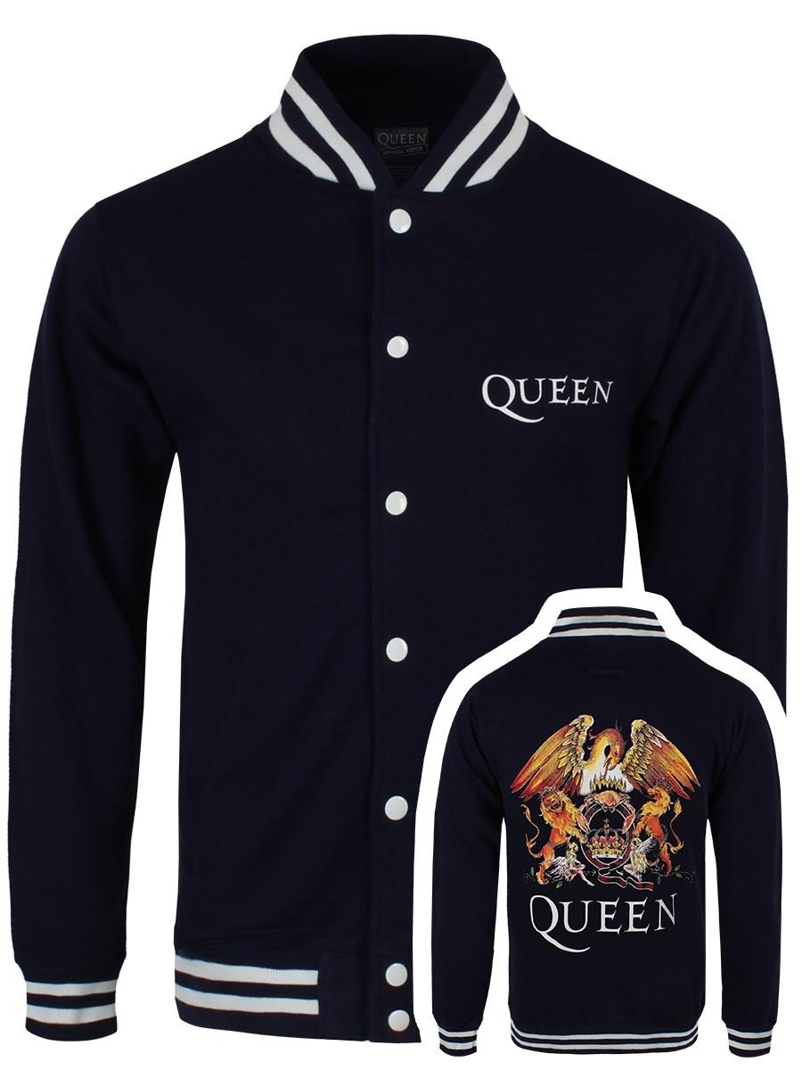 Queen Crest Men S Varsity Jacket Buy Online At