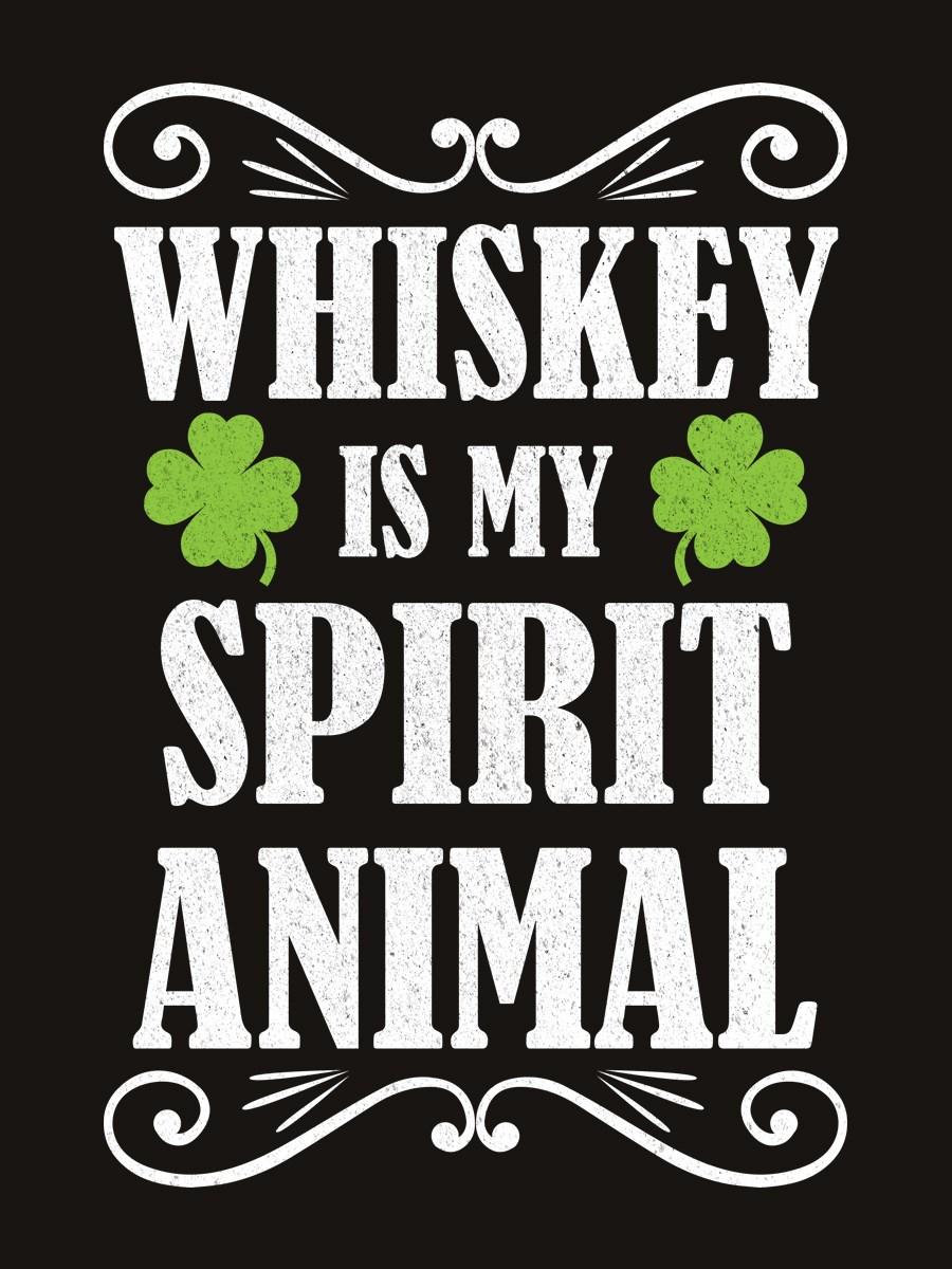 Whiskey Is My Spirit Animal Mens Black Sweater Buy Online At
