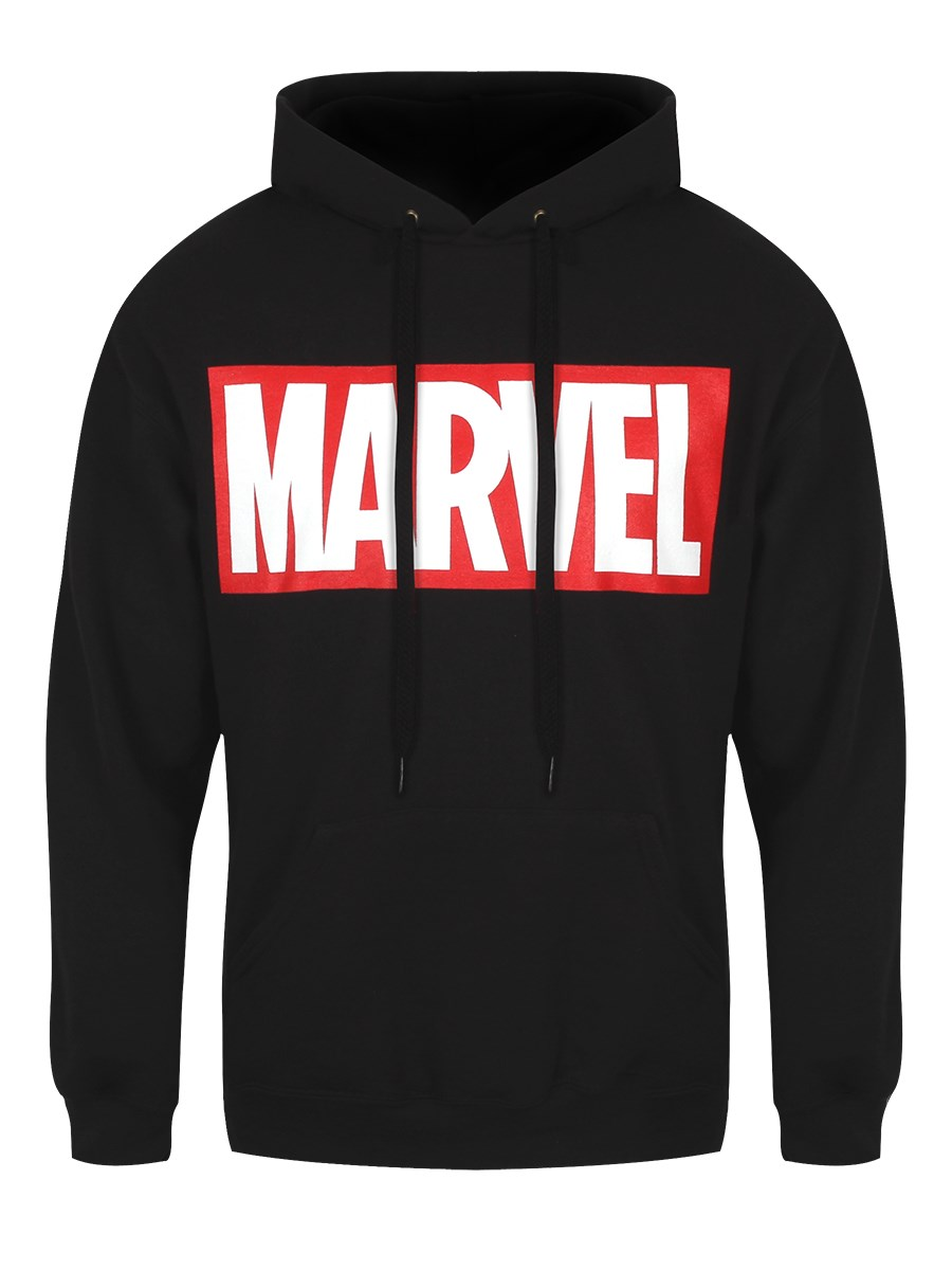 Marvel Comics Logo Men S Black Hoodie Buy Online At