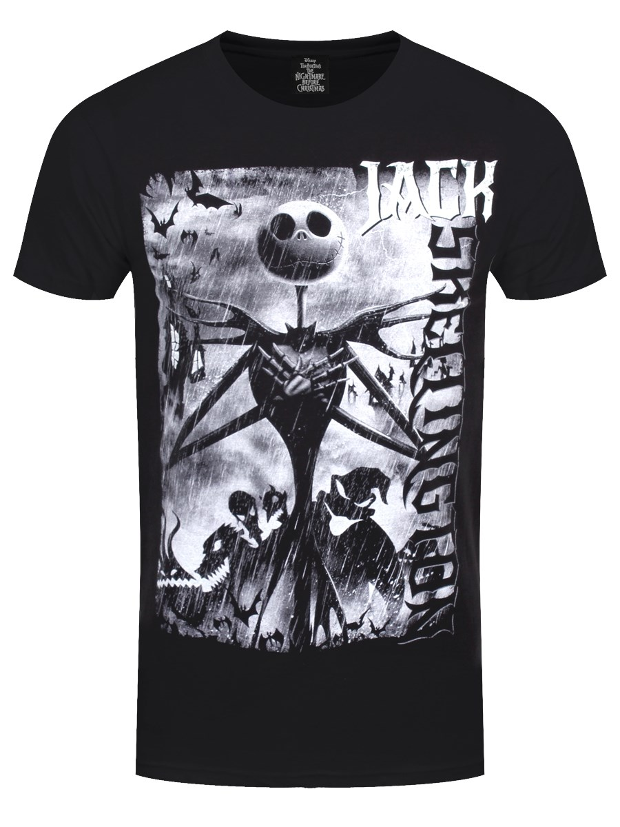 Nightmare Before Christmas Skellington Men\'s Black T-Shirt - Buy ...