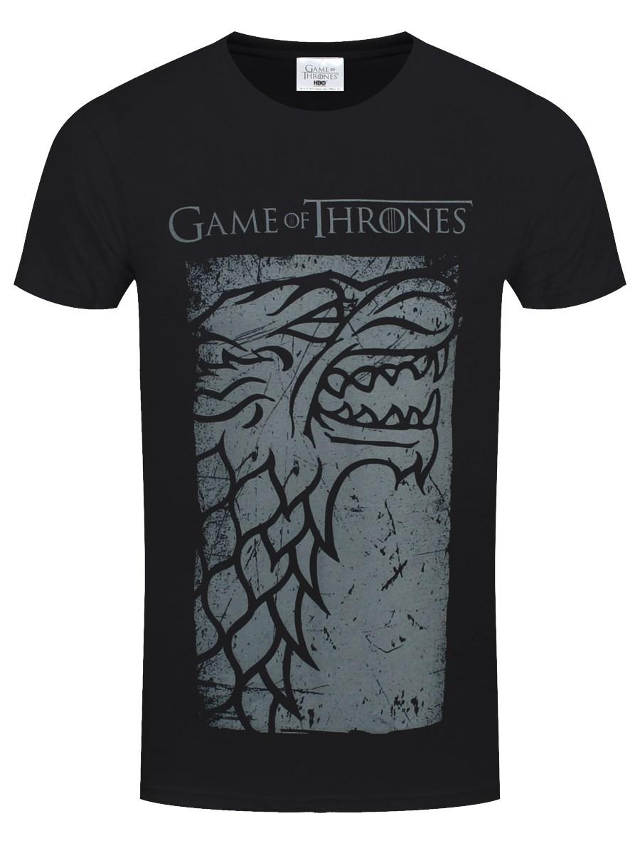 96e8993529e Game Of Thrones Stark Direwolf Men s Black T-Shirt - Buy Online at ...