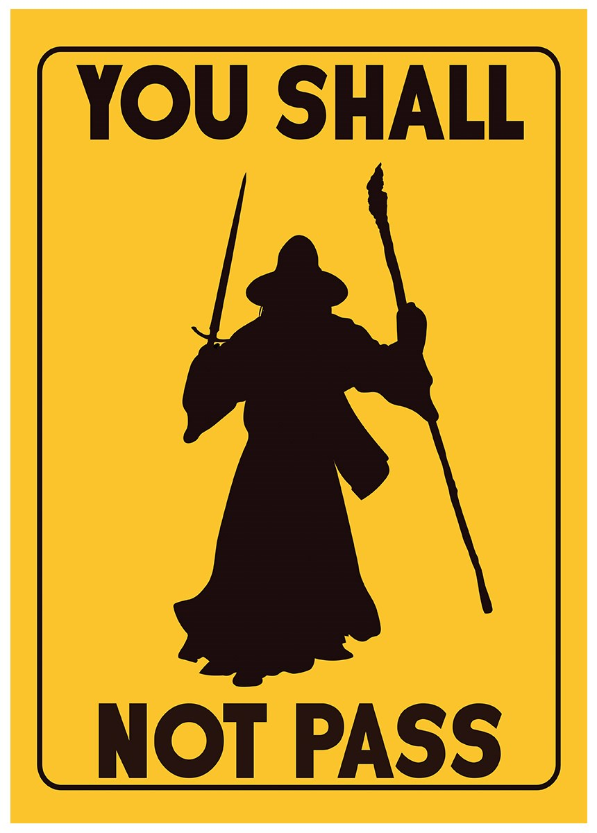 You Shall Not Pass Mini Poster - Buy Online at Grindstore.com