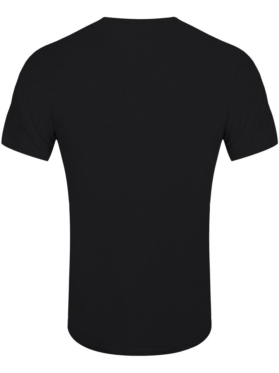 Black t shirt white cross on back - Frank Iero Cross Men S Black T Shirt