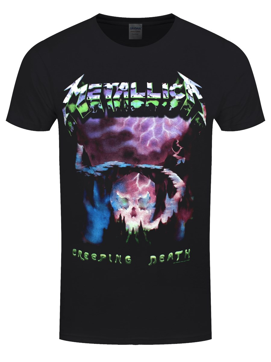 metallica creeping death men 39 s black t shirt buy online. Black Bedroom Furniture Sets. Home Design Ideas