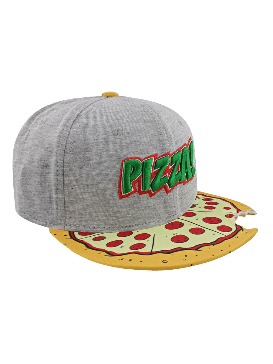 c9afaf6b85b Teenage Mutant Ninja Turtles Pizza Snapback Cap With Cutout Brim ...