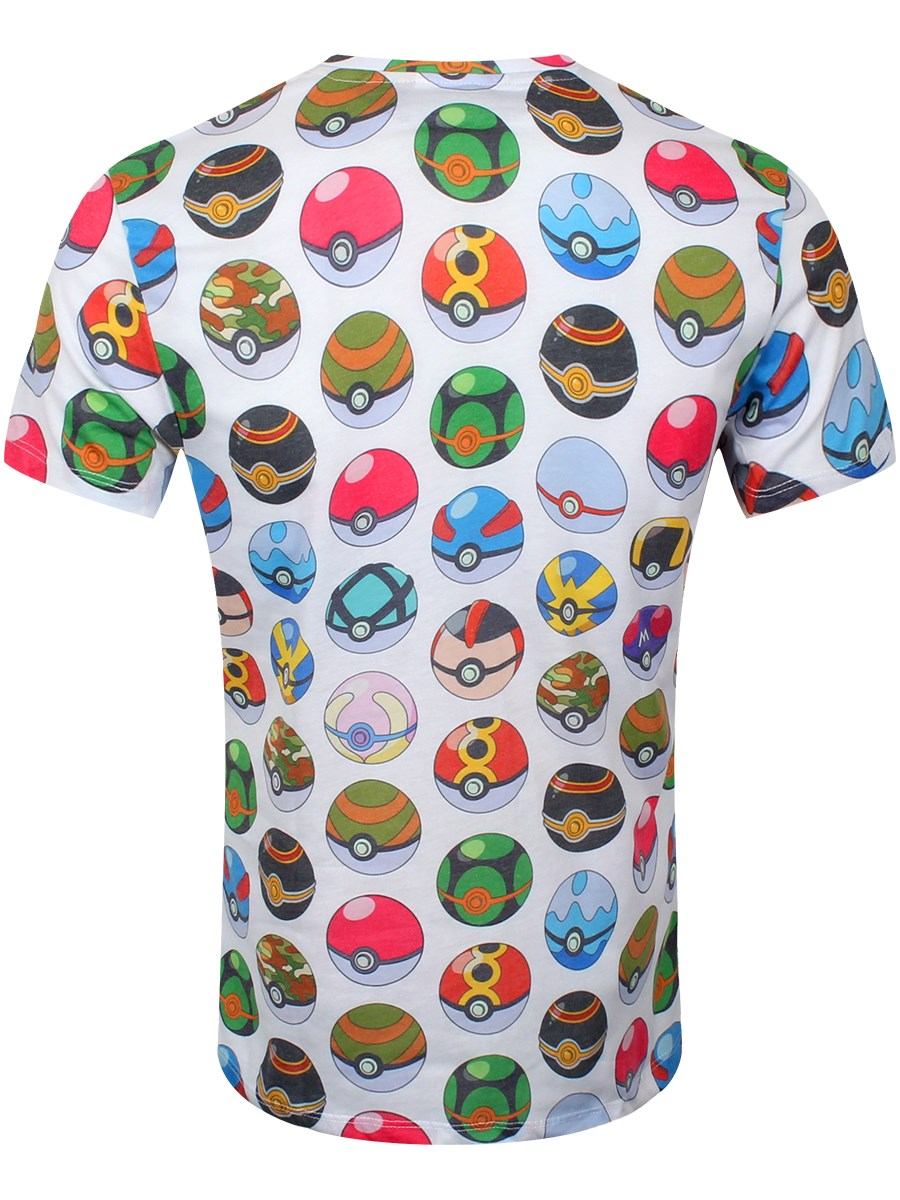 26d583ff Pokemon Pokeball Men's All Over Print T-Shirt - Buy Online at ...
