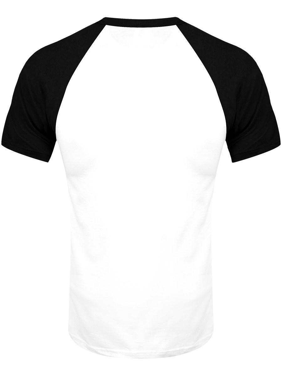 Black t shirt logo - The Rolling Stones Classic Logo Short Sleeve Raglan Men S Black T Shirt