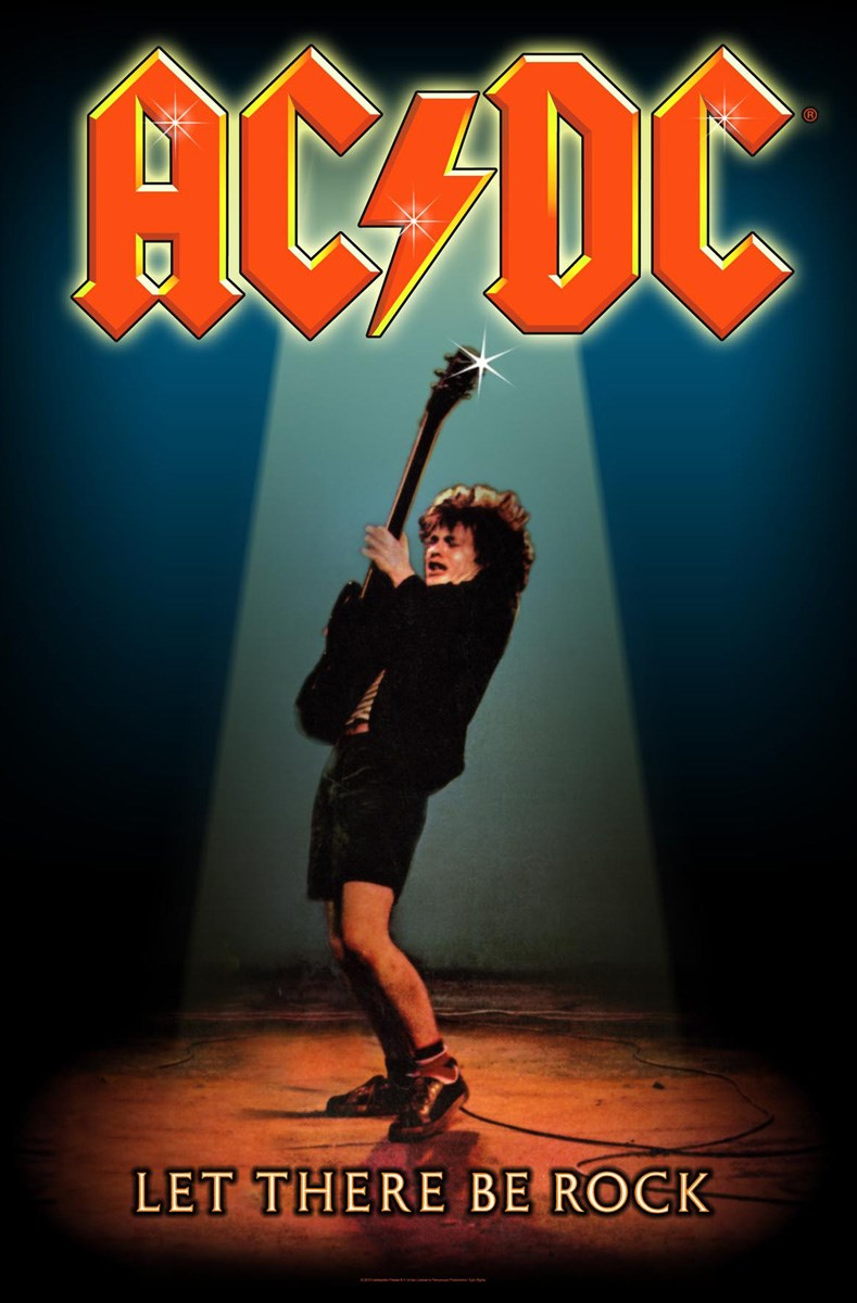 Ac Dc Let There Be Rock Textile Flag Buy Online At