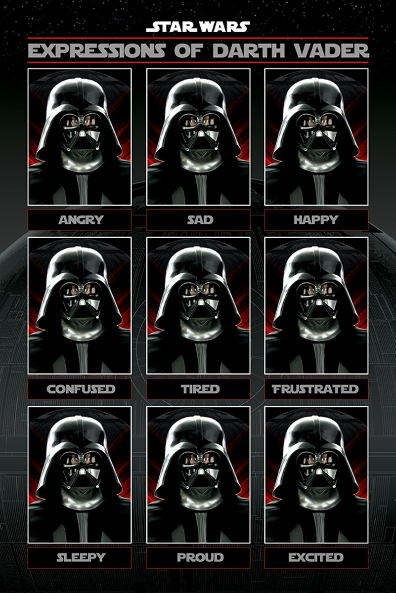 Star Wars Expressions Of Darth Vader Buy Online At