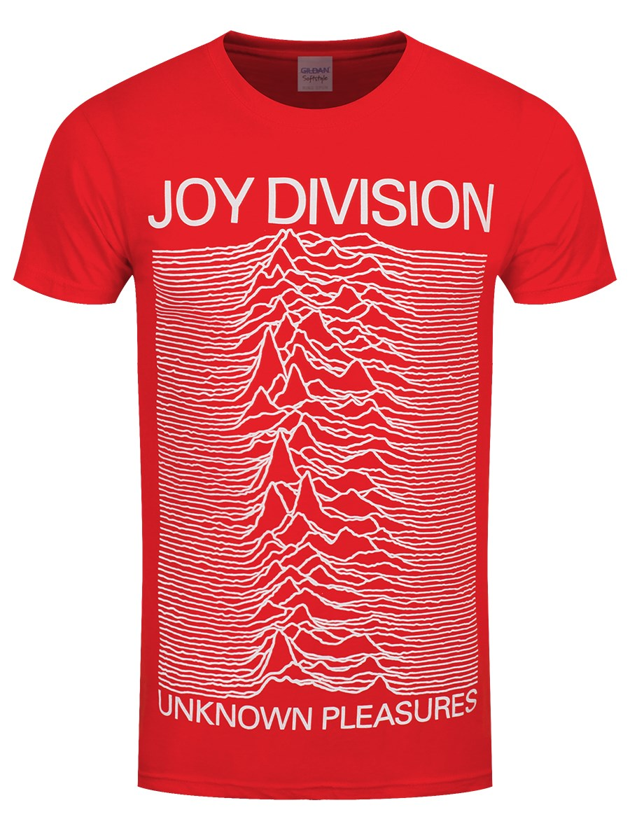 2158f3e25 Joy Division Unknown Pleasures Men s Red T-Shirt - Buy Online at ...