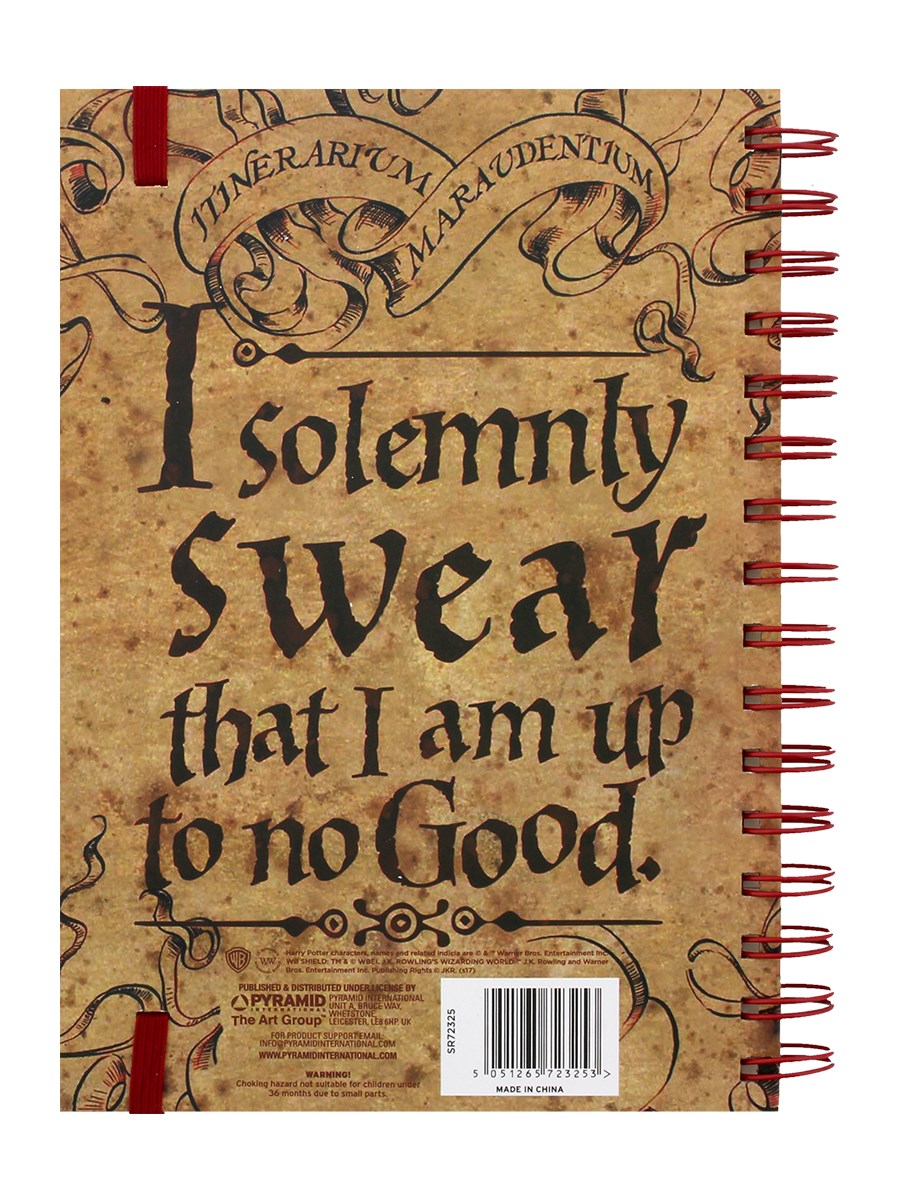 Harry Potter The Marauders Map A5 Notebook - Buy Online at ...