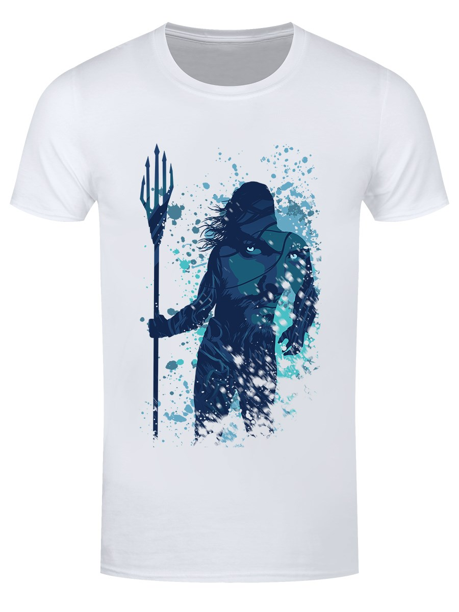 73ef1751b Arthur Curry Silhouette Men's White T-Shirt, Inspired by Aquaman ...
