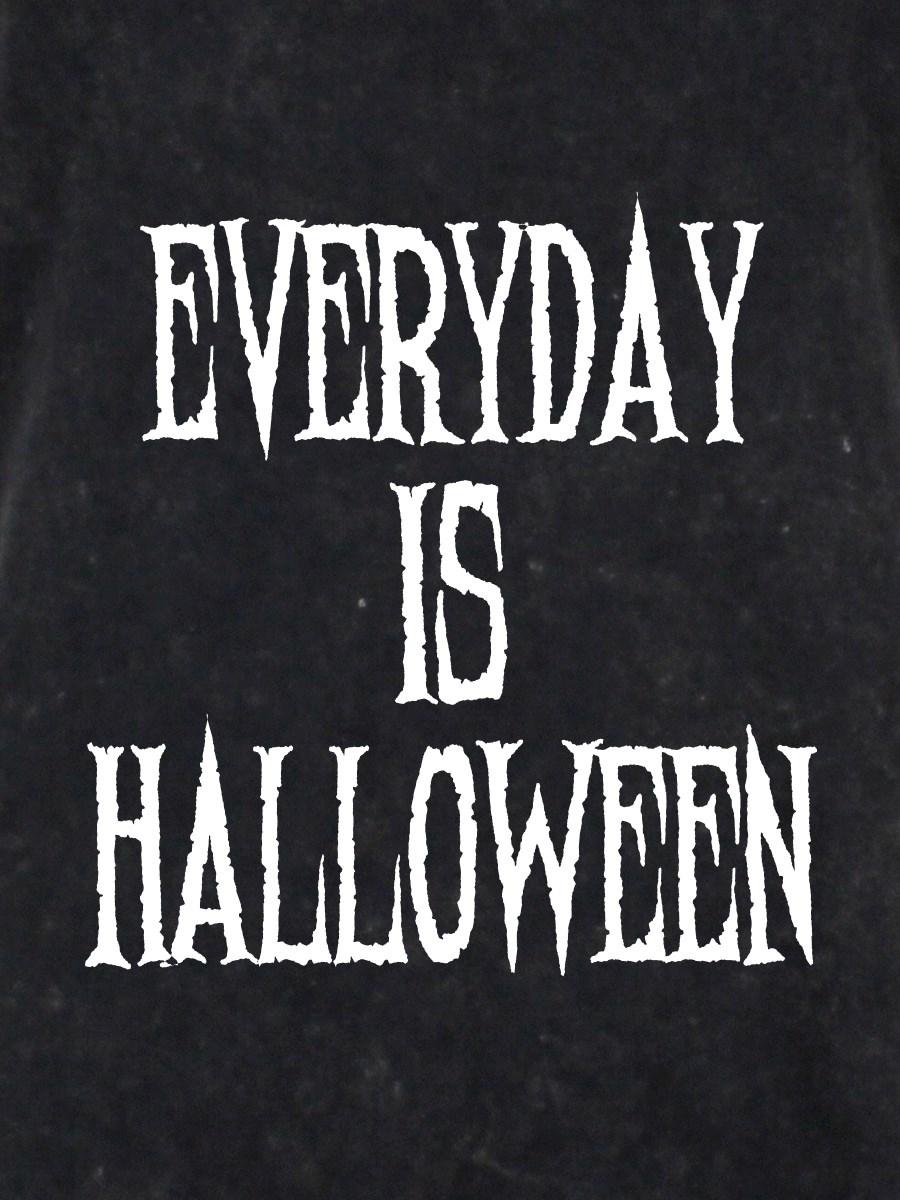 Everyday Is Halloween Ladies Black Acid Wash Racerback Vest - Buy ...