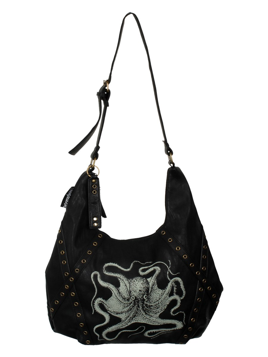 cb85708f5df7 Sourpuss Octopus Eyelet Hobo Handbag - Buy Online at Grindstore.com