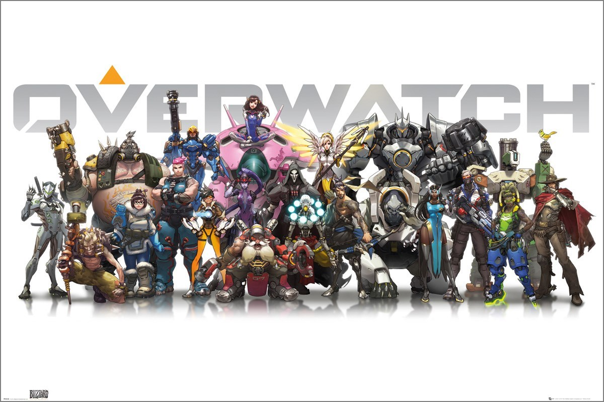 Buy Online Wall Stickers Overwatch Characters Poster Buy Online At Grindstore Com