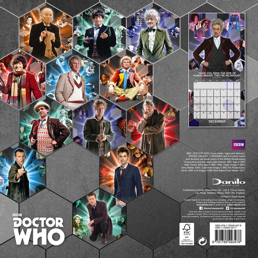 Doctor Who Classic Edition 2018 Square Calendar - Buy