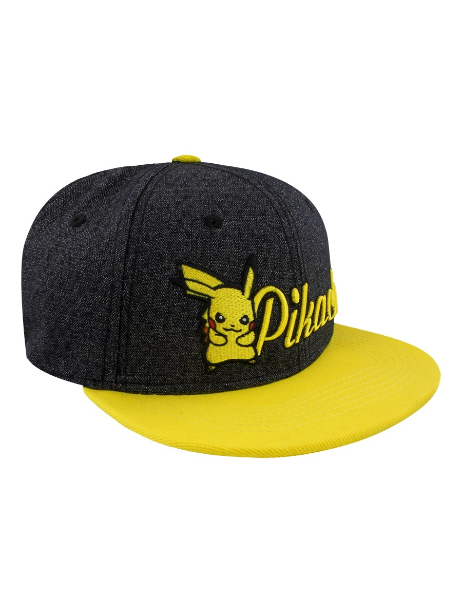 Pokemon Pikachu Embroidered Snapback Cap - Buy Online at Grindstore.com ca43dd19f63d