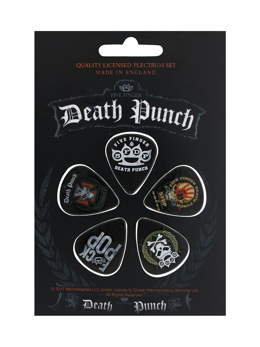 317c33b7b2f Five Finger Death Punch Plectrums 5-Pack - Buy Online at Grindstore.com