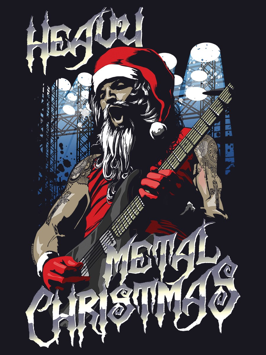 front back flat design - Heavy Metal Christmas