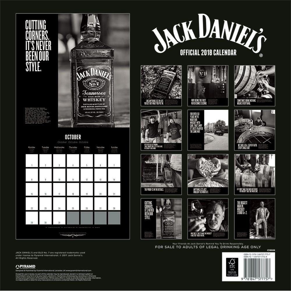 Jack Daniels Advent Calendar.Jack Daniels 2018 Square Calendar
