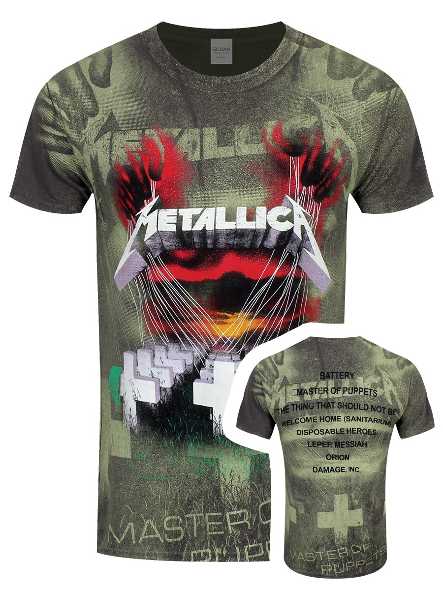 d07fcd909 Metallica Master Of Puppets All Over Print Men s Charcoal T-Shirt ...