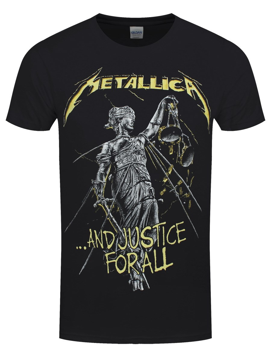 6c29e8ec1 Metallica And Justice For All Tracks Men s Black T-Shirt - Buy ...