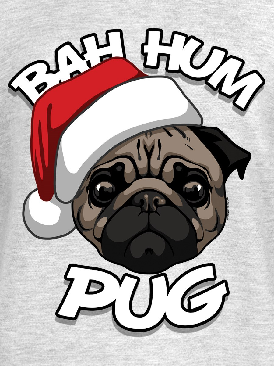 4c2e8f26a9586 Bah Hum Pug Ladies Grey Christmas Jumper - Buy Online at Grindstore.com