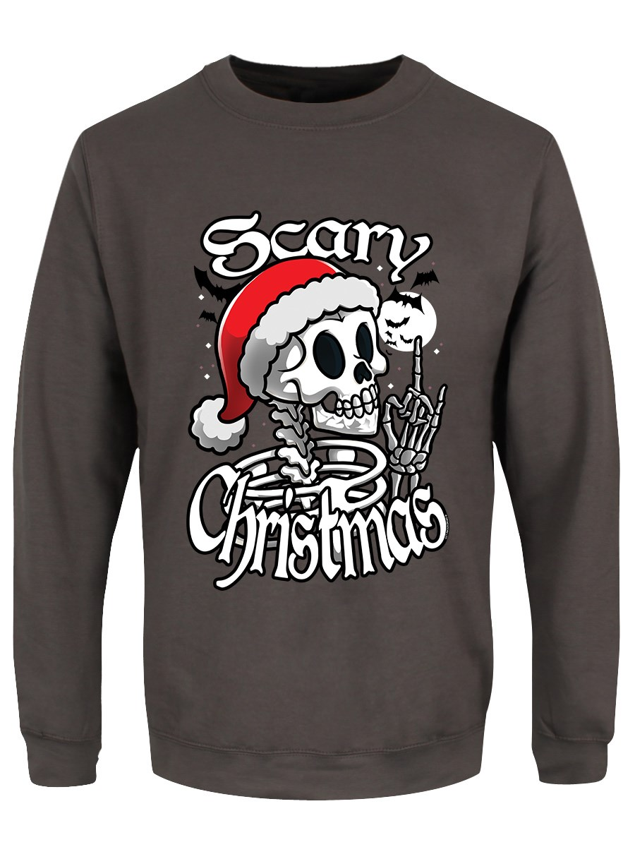 1a37678ec7155 Scary Christmas Storm Grey Christmas Jumper - Buy Online at ...