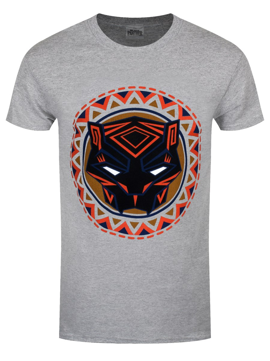473ddb5c934 Black Panther Movie Logo Men s Grey T-Shirt - Buy Online at ...