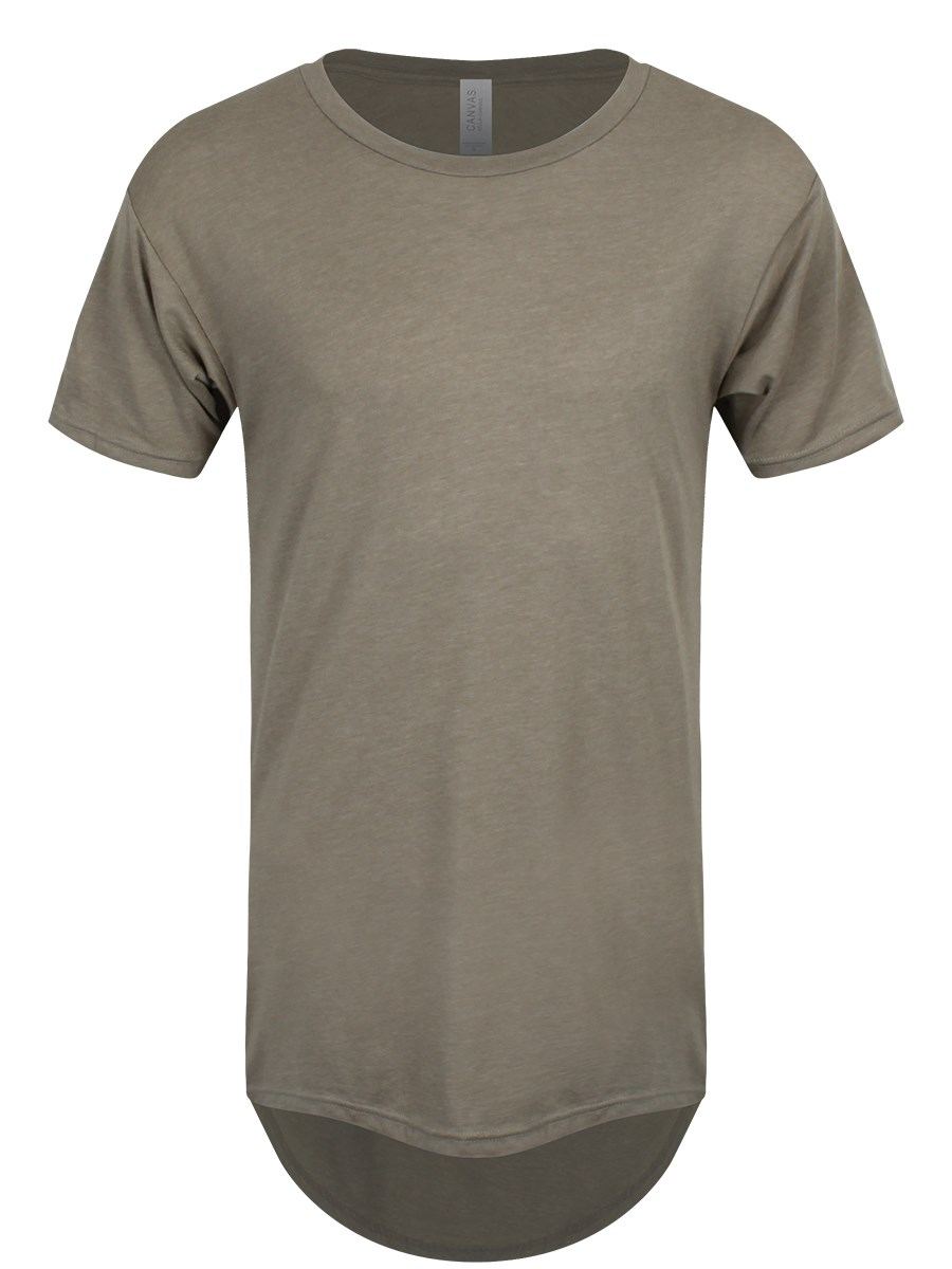 efc70d6a44a Men s Heather Stone Long Body Urban Tee T-shirt - Buy Online at ...