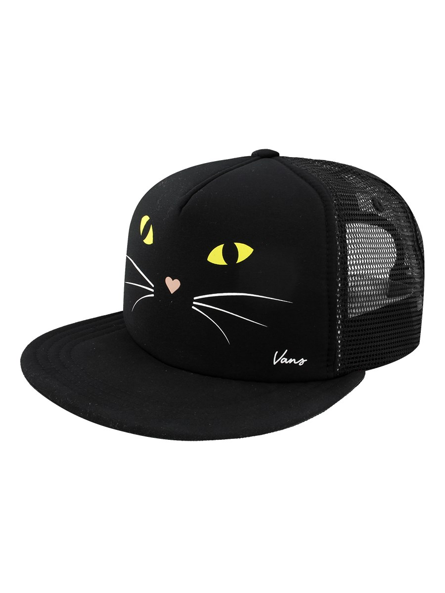 Vans Lawn Party Trucker Cap - Black Cat - Buy Online at Grindstore.com 8a61070aa