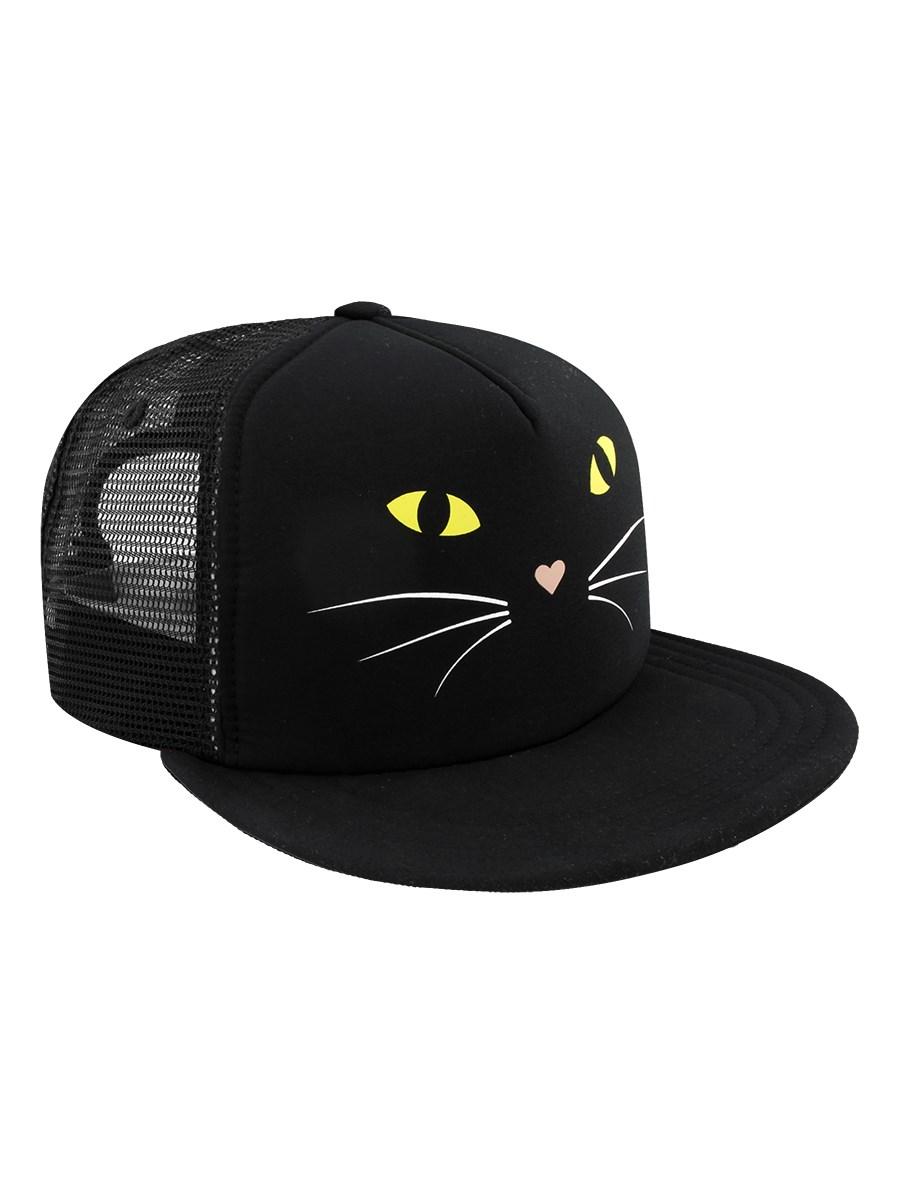 0200f4a96bd Vans Lawn Party Trucker Cap - Black Cat - Buy Online at Grindstore.com