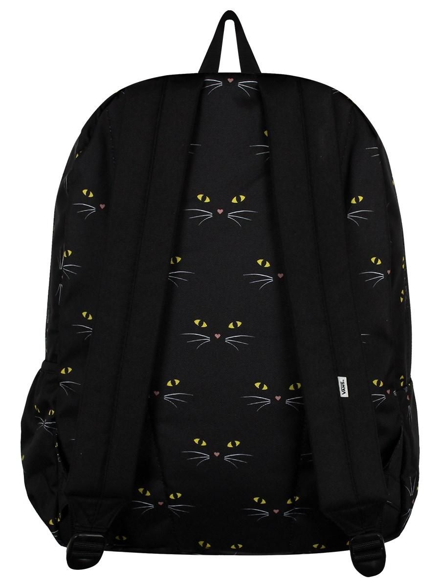 ad24cd5a Vans Realm Flying V Backpack - Black Cat