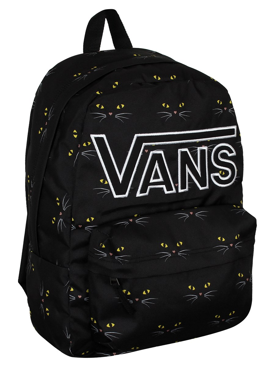 15f31451fb83f Vans Realm Flying V Backpack - Black Cat - Buy Online at Grindstore.com