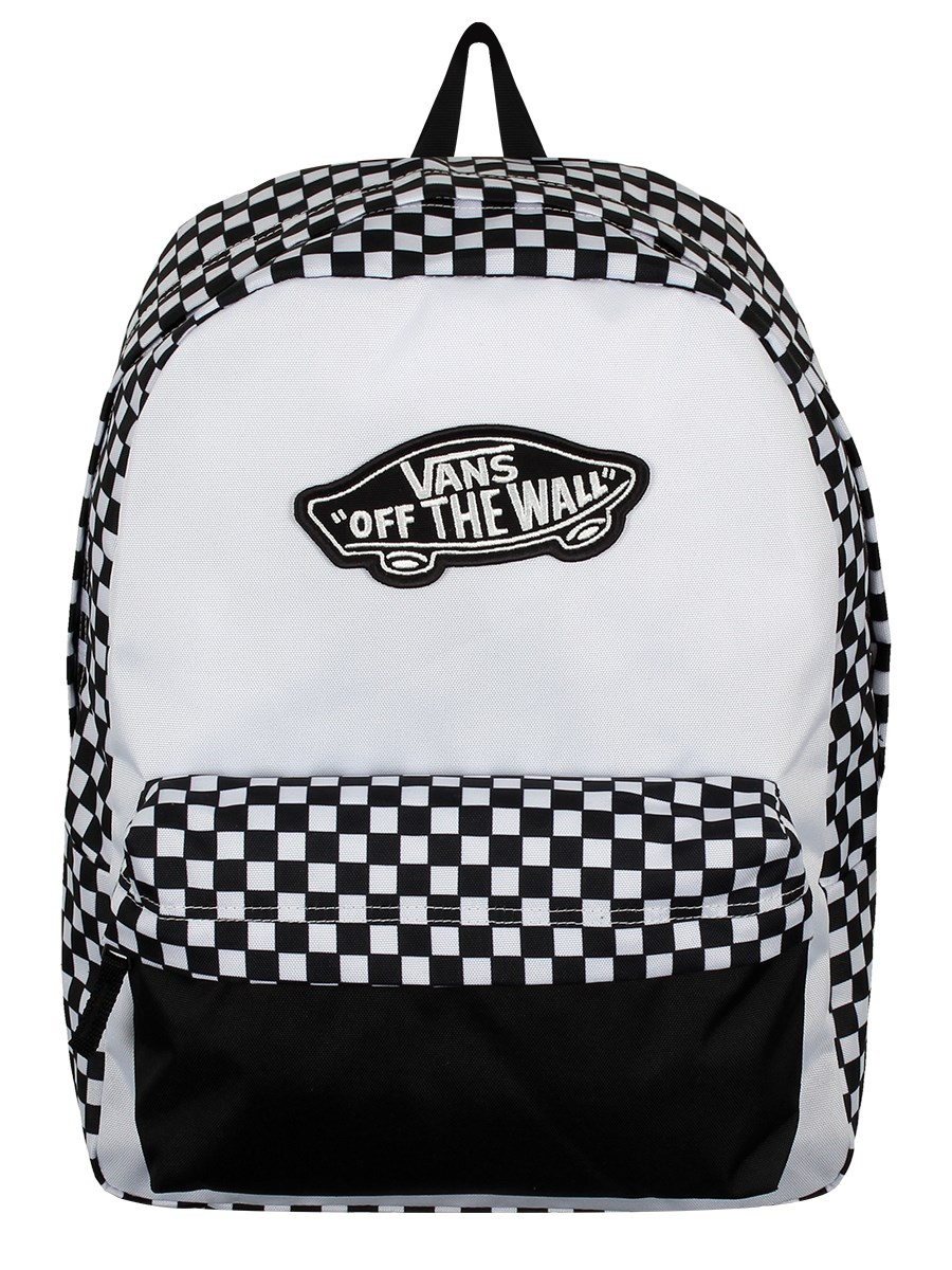 097a2c8bc9c Vans Realm Backpack - Black   White Checkerboard - Buy Online at ...